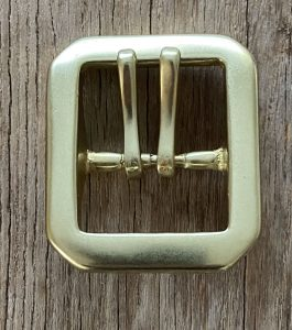 Heavy double pin solid brass - army style 40mm